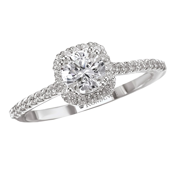 .67ctw Round Brilliant Cushion Halo Diamond Engagement Ring