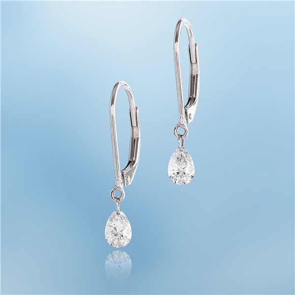 Dancing Diamond Pear Shape Earrings - 1/2ct