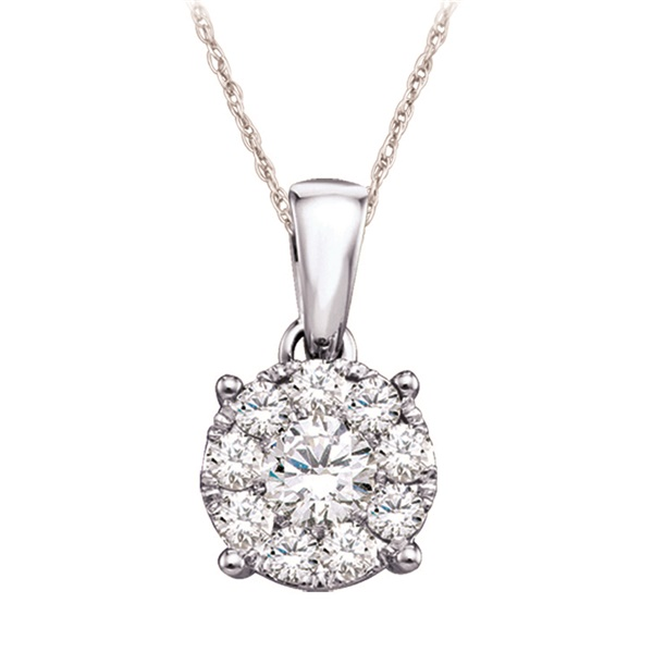 Diamond Cluster Necklace - .16ctw