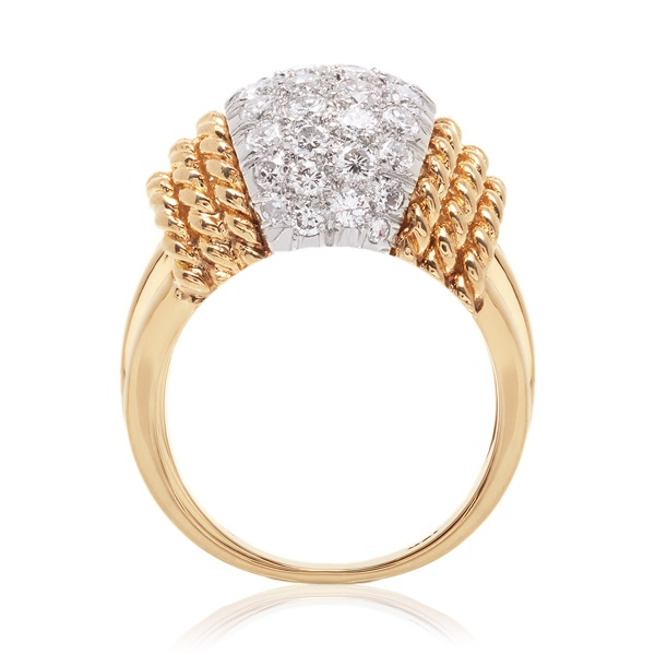 Sharon - 18K Gold & Platinum Diamond Cocktail Ring - 1.35ctw