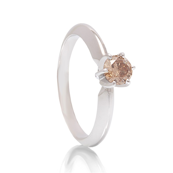 .43ct Champagne Diamond Solitaire Ring