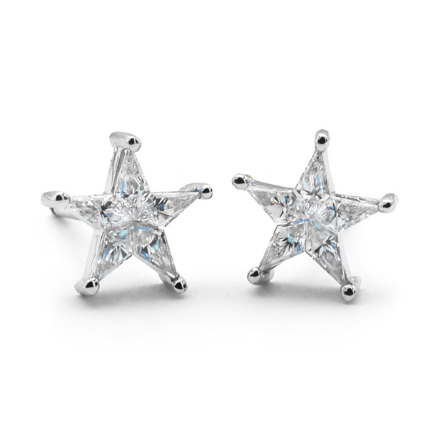 Ladies Diamond Star Earrings  - .51ctw