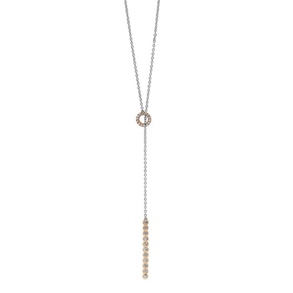 Diamond Two-Tone Lariet Necklace
