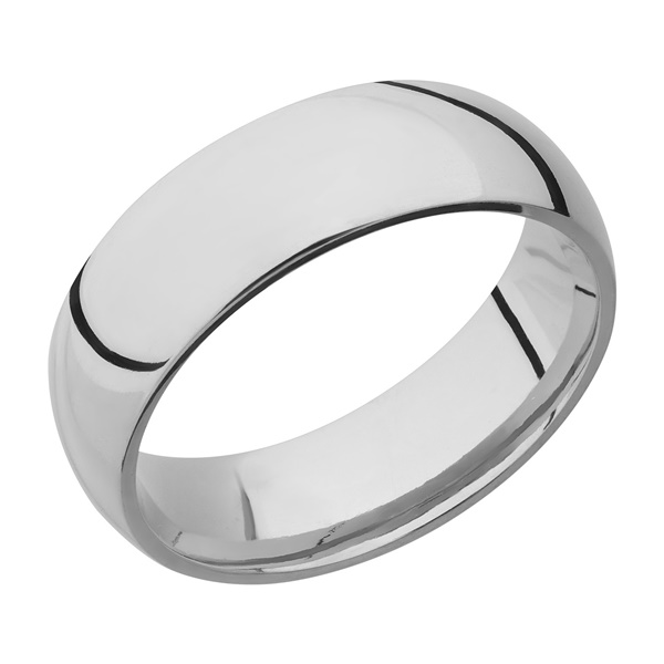 Titanium Domed Wedding Band by Lashbrook Designs