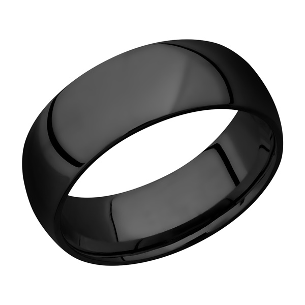 Domed Zirconium Wedding Band by Lashbrook Designs