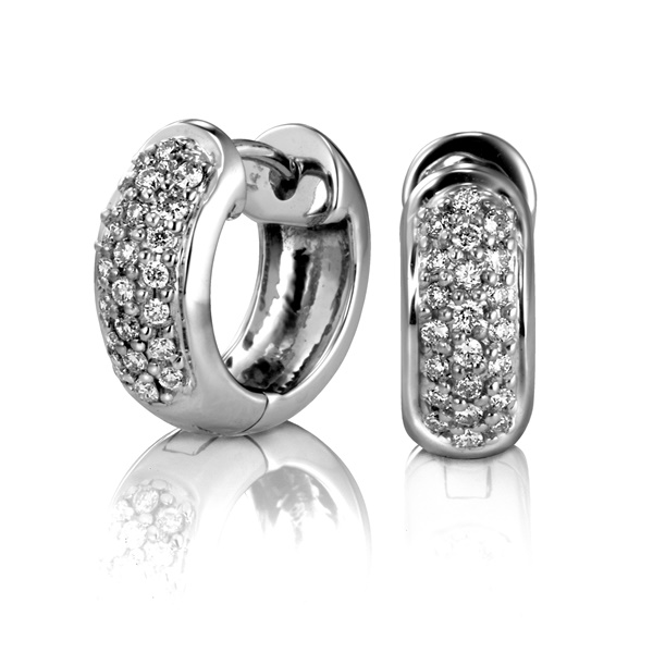 Diamond Pave Huggy Earrings