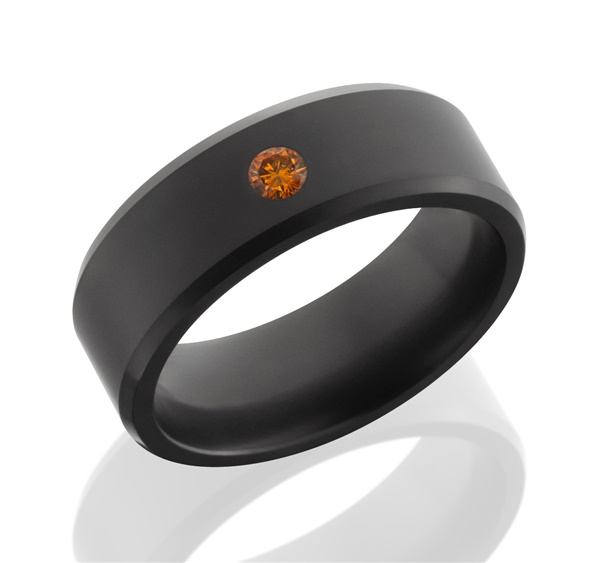 Elysium Black Diamond & Orange Diamond Men's Ring