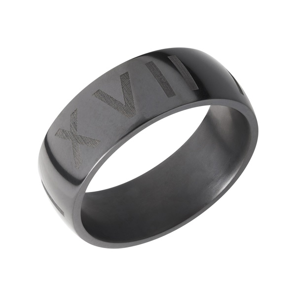 NYX Elysium Custom Laser Engraved Men's Wedding Band
