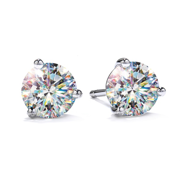 Fire Polish Diamond Stud Earrings - .53ctw