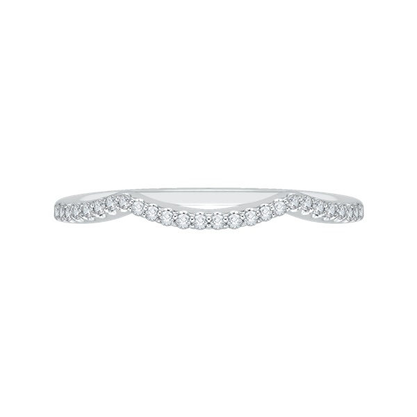 Promezza White Gold Curved Wedding Band