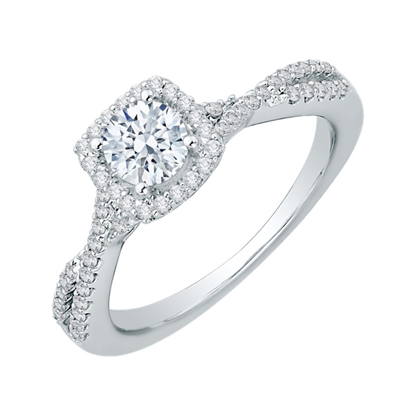 Promezza Cushion Halo Diamond Engagement Ring