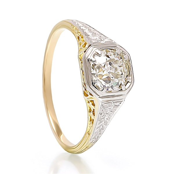 Ladies Antique Diamond Engagement Ring - 1 carat