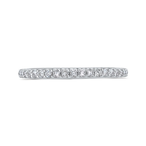 Carizza White Gold and Diamond Wedding Band