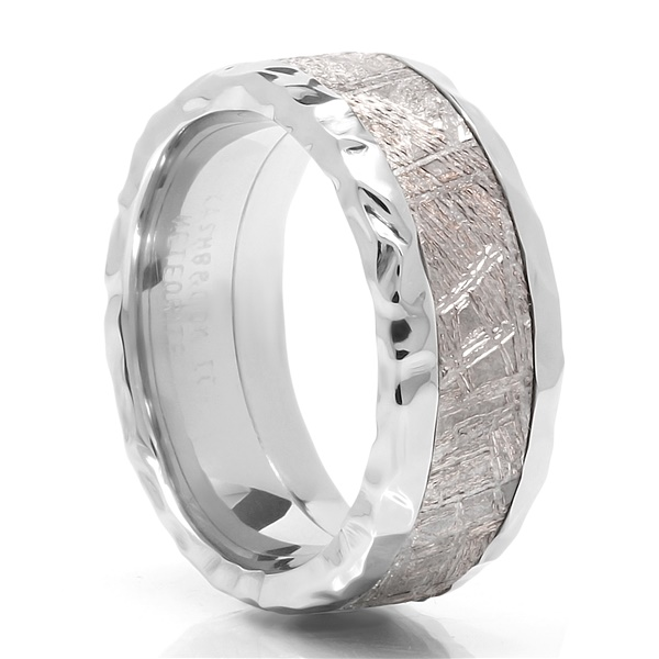 Lashbrook Meteorite & Rock Finish Cobalt Wedding Band - CRATER
