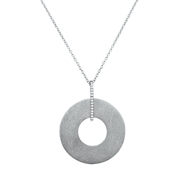 Meira T Diamond Disc Necklace