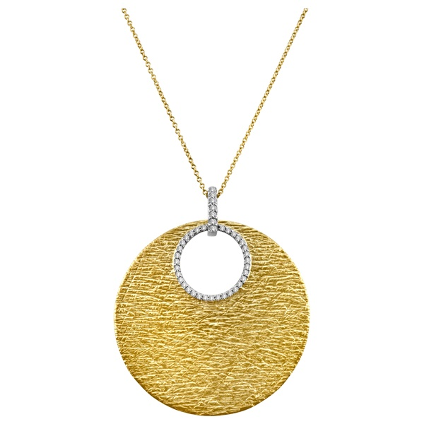 Meira T Gold Disc & Diamond Necklace