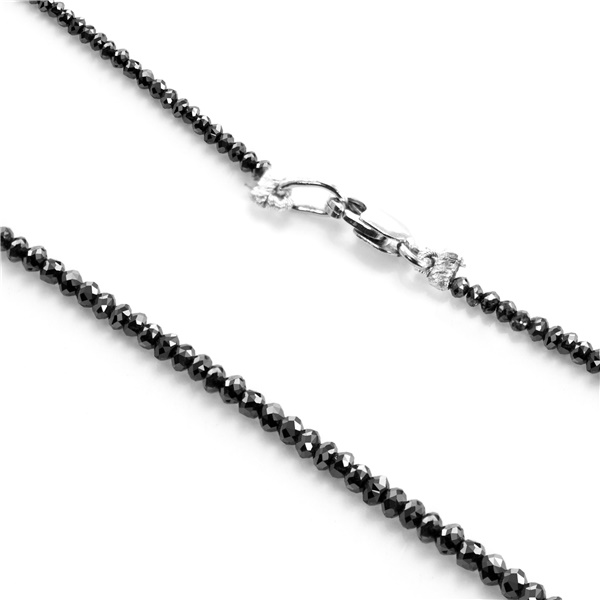 Black Diamond & White Gold Necklace