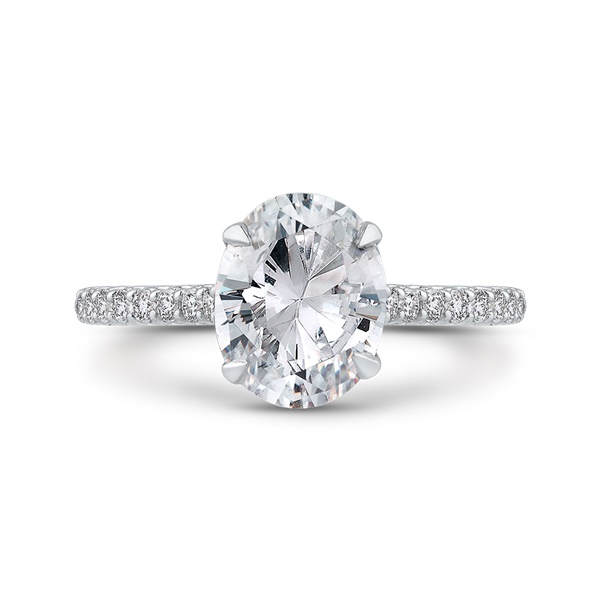 Carizza Oval Semi-Mount Engagement Ring