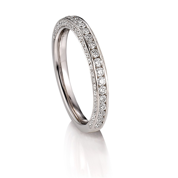 Palladium Wedding Band by ArtCarved