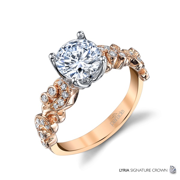 18kt Rose Gold and Diamond Engagement Ring by Parade