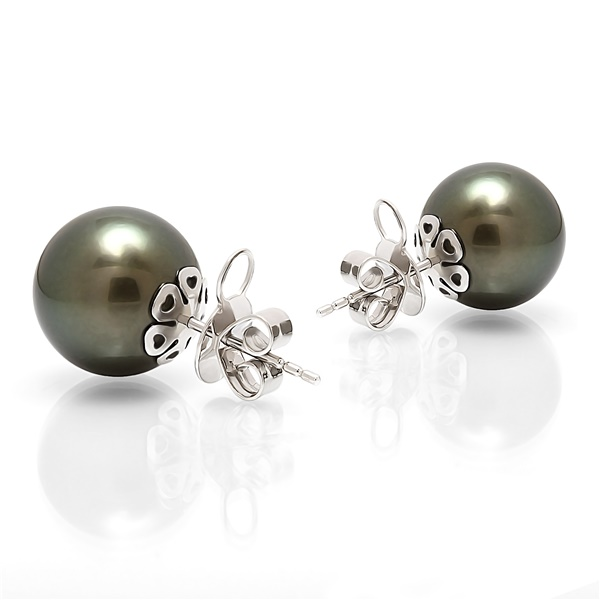 Tahitian Pearls - Black South Sea Pearl Studs