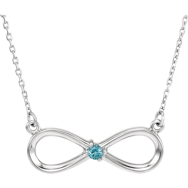 Infinity Loop Mother's Necklace - Customizable