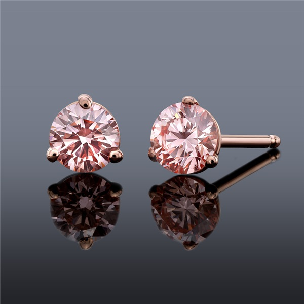 Pure Grown Diamond .50ctw Pink Diamond Earrings