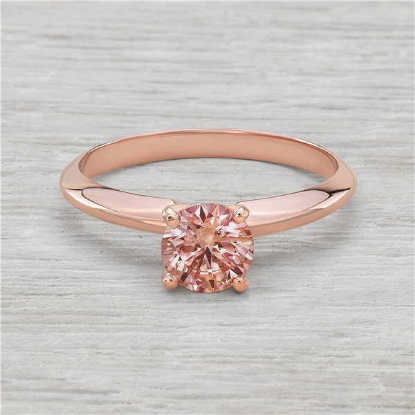 3/4ct Pink Diamond Rose Gold Solitaire