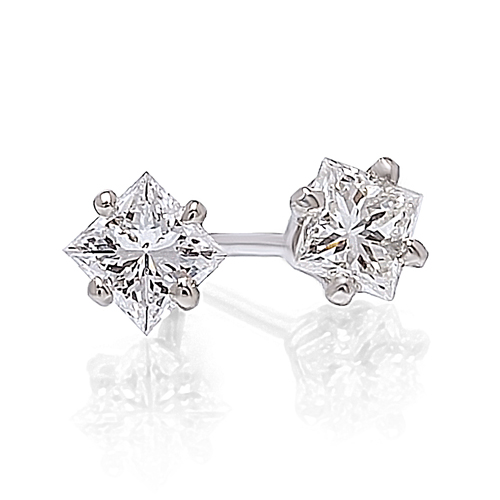 Princess Cut Diamond Earrings -.50ctw