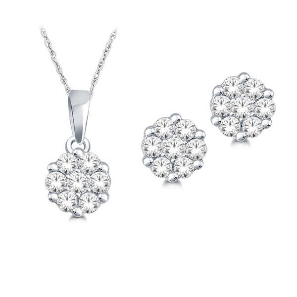 .25ctw Diamond Earrings & Pendant Set