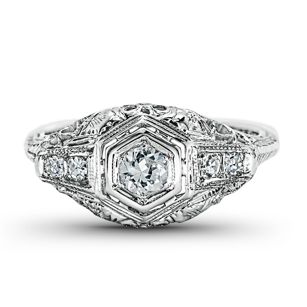 Elloise - Vintage Engagement Ring