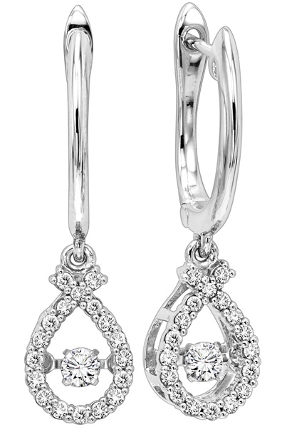 "Rhythm of Love Diamond ""Ribbon"" Earrings"