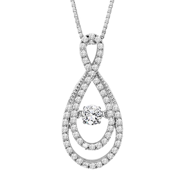Rhythm of Love Diamond Necklace - Double Twist