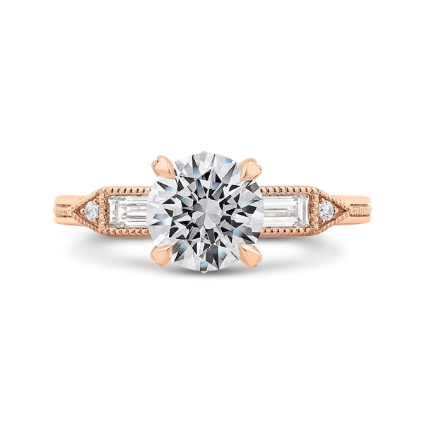 Carizza Rose Gold Diamond Engagement Ring