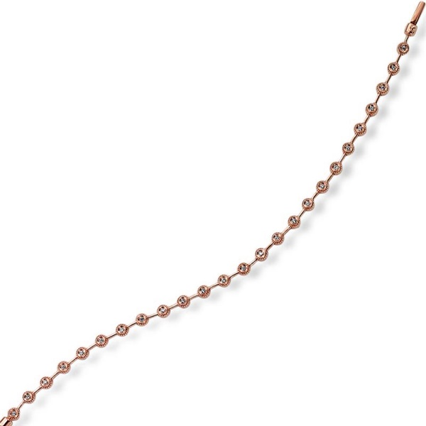 Rose Gold Bezel Set Diamond Tennis Bracelet