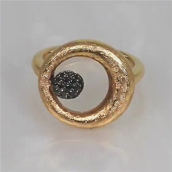 18kt Rose Gold and Black Diamond Ring