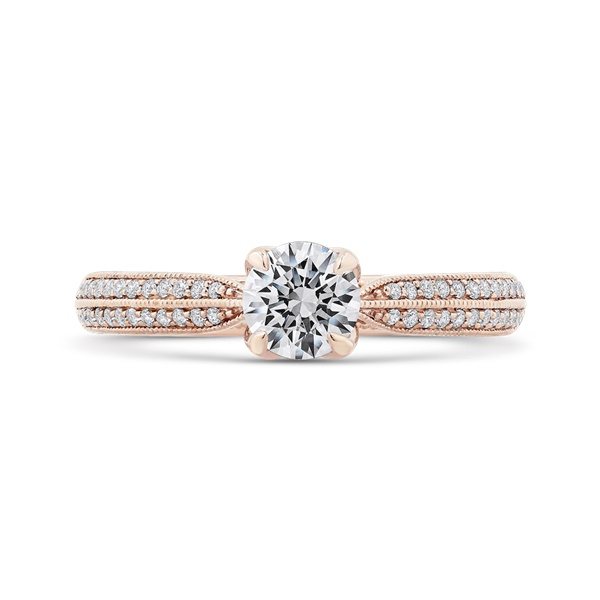 Promezza Rose Gold Diamond Engagement Ring