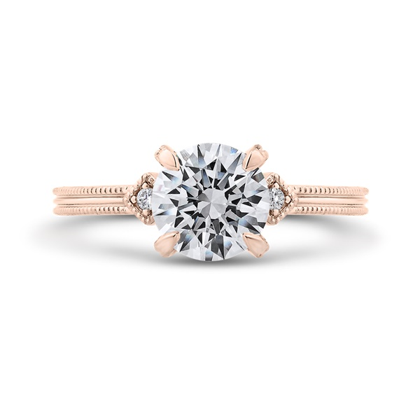 Carizza Rose Gold Engagement Ring