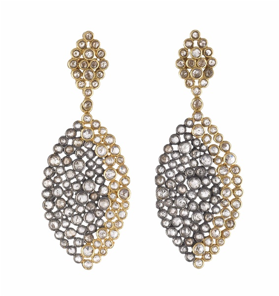 Rough Cut Diamond Earrings - 3.80 ctw