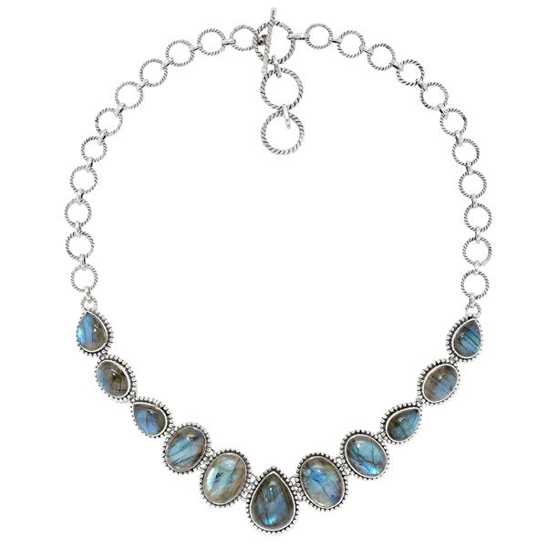 Samuel B Labradorite Statement Necklace