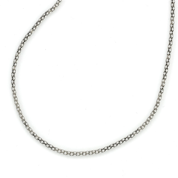 Oxidized Sterling Silver Popcorn Chain by Samuel B
