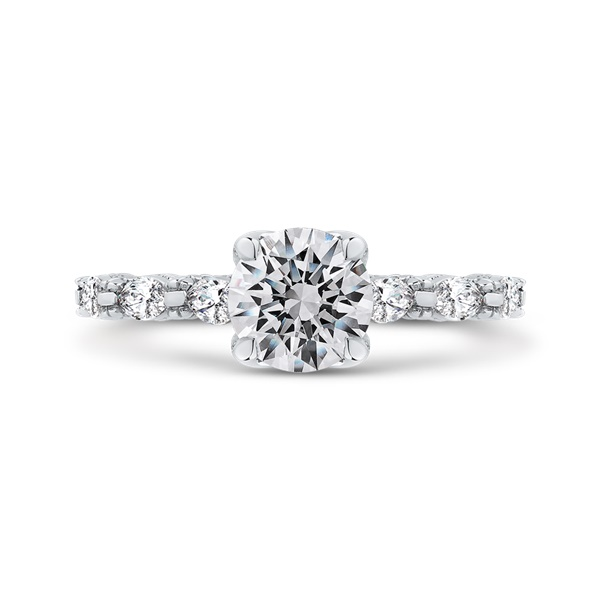 Carizza Diamond Engagement Ring with Bow Details