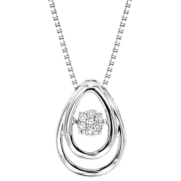 Rhythm of Love Sterling Silver & Diamond Necklace