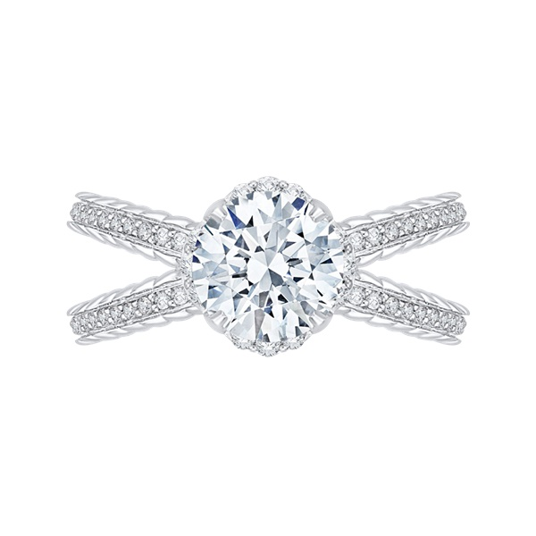 Carizza Split Shank Engagement Ring