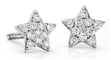 14k Gold & Star Cluster Diamond Studs
