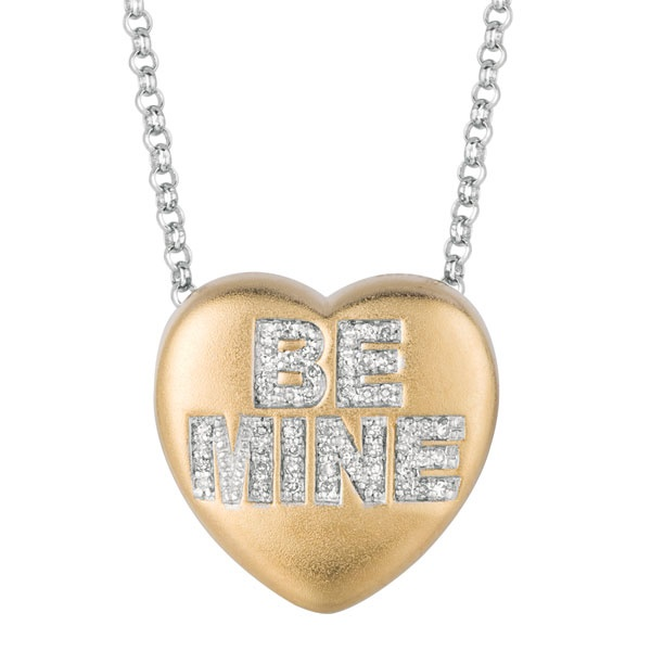 "Sweethearts Diamond ""BE MINE"" Necklace"