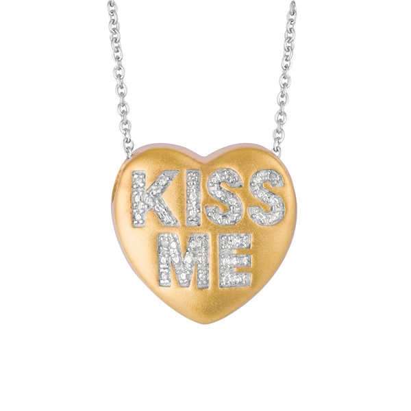 "Sweethearts Diamond ""KISS ME"" Necklace"