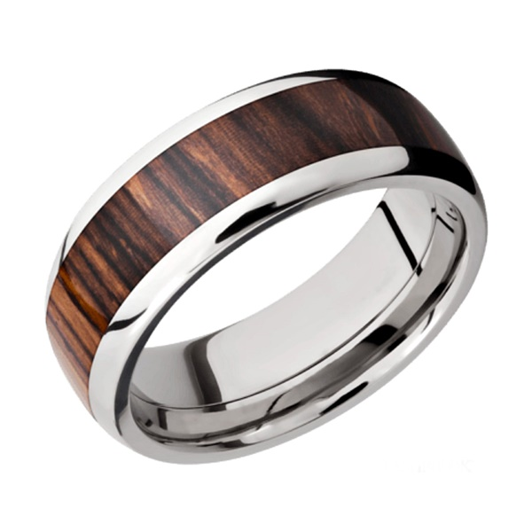Titanium and Wenge Hardwood Band by Lashbrook Designs
