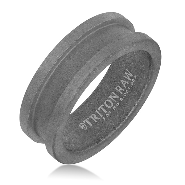 Triton RAW Tungsten Chanel Groove Ring