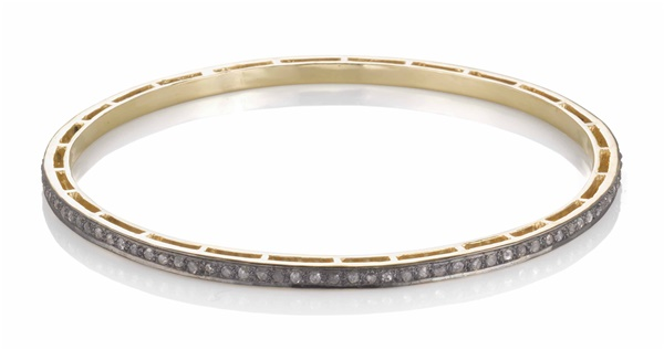Two Tone Rough Cut Diamond Bracelet - 1.70ctw
